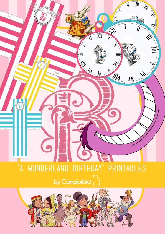 A Wonderland Birthday printables